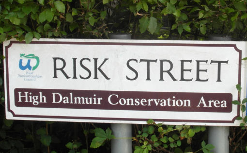 Street sign indicating High Dalmuir Conservation areas