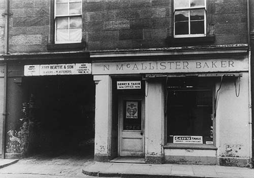 Gerry's Taxi Office, Dumbarton in the 1960s