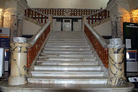 Motoring Heritage Museum Marble Staircase.