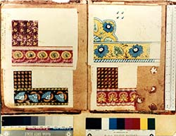 Leven Printfield, Alexandria, pattern book designs for shawls 1794-1800.