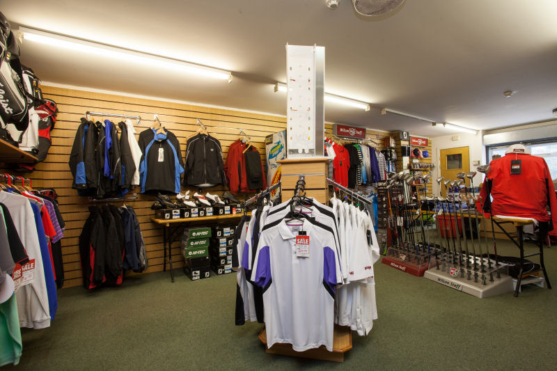 image of Inside the Pro Shop - polo shirts and waterproofs