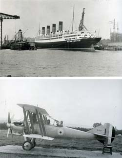 'Aquitania' and WB2 Single-Engine Two-Seater Biplane.
