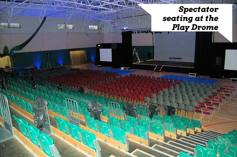 Spectator seating at the Play Drome 1