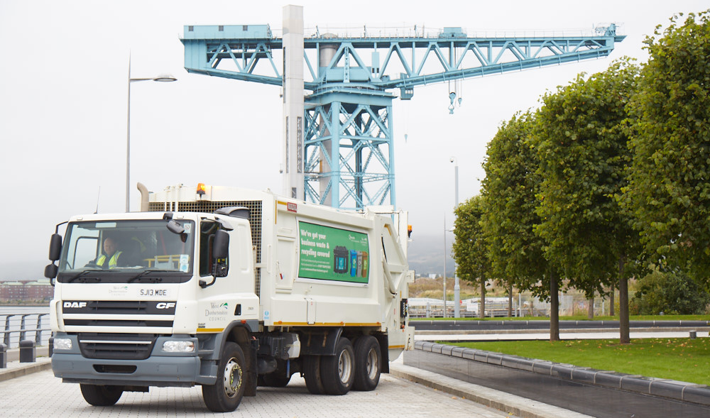 Bin lorry with Titan Crane behind it