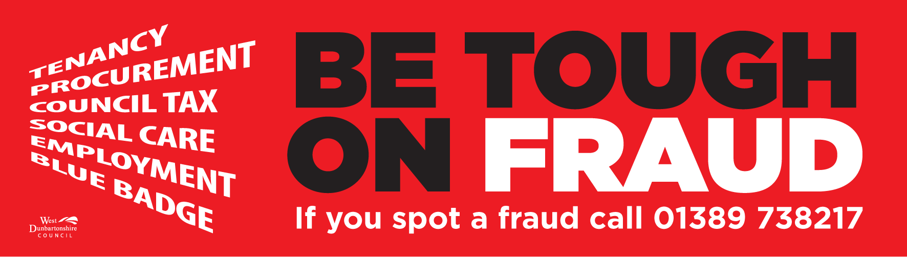 Be tough on fraud