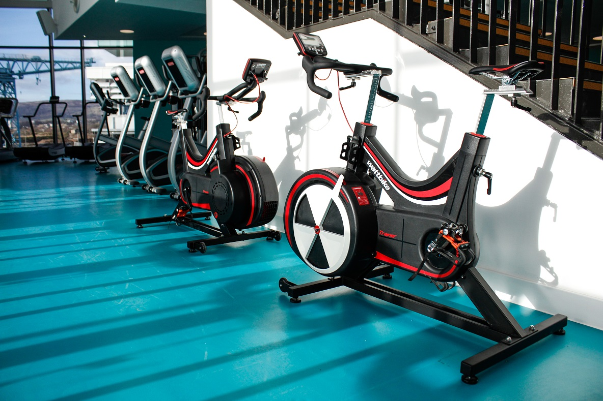 image of Some exercise bikes in the gym