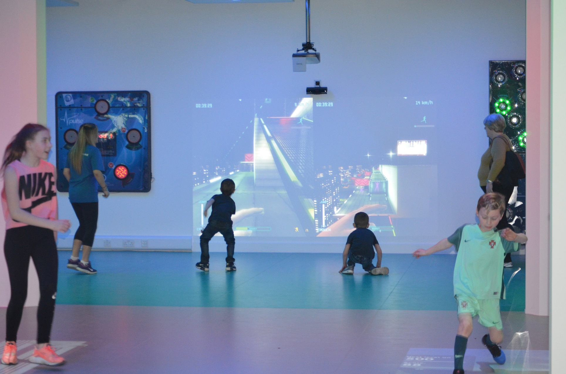 Children using the interactive area 13