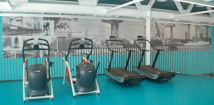 image of view of some of the equipment in the gym