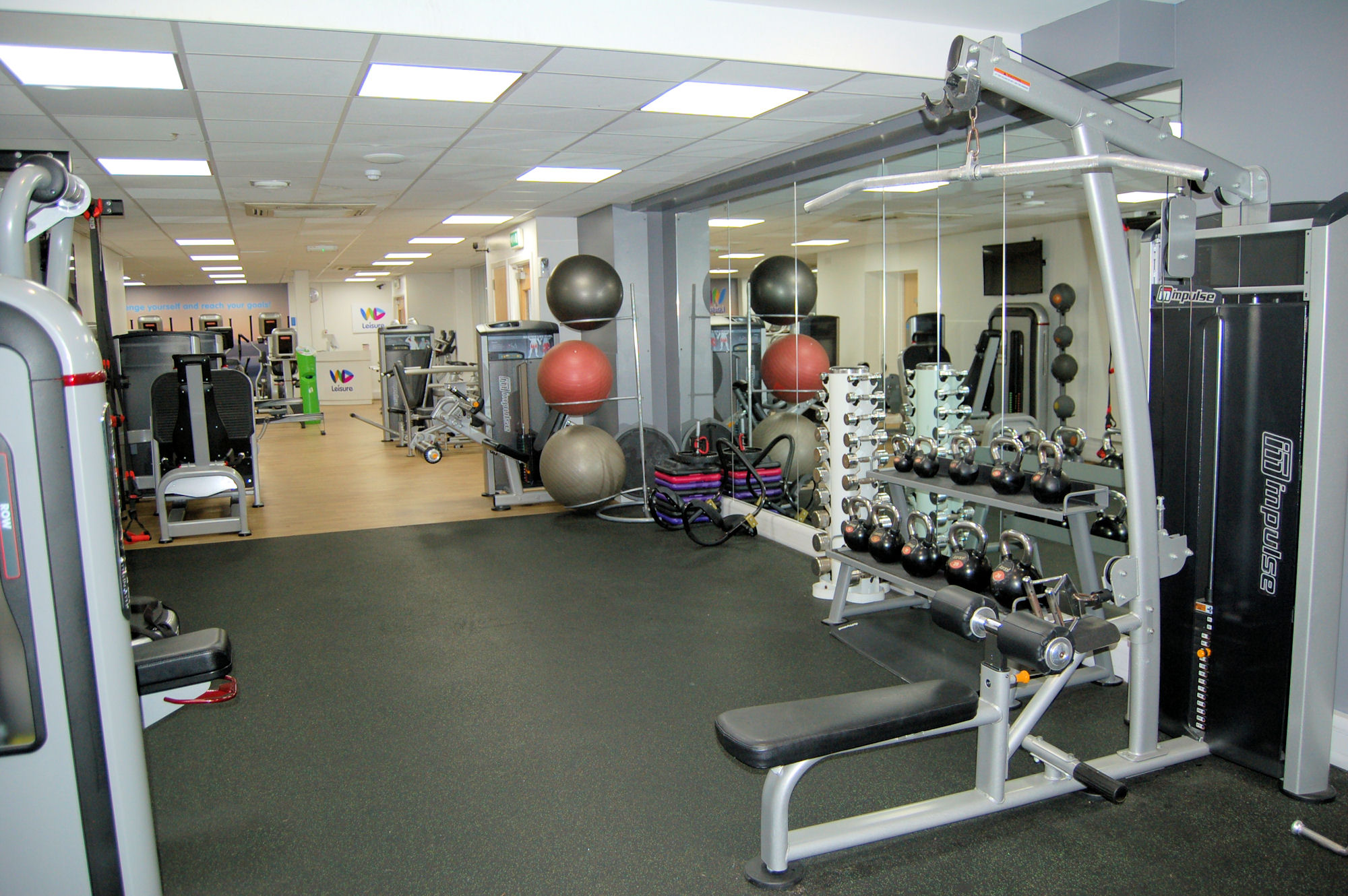 image of Gym area with medicine balls