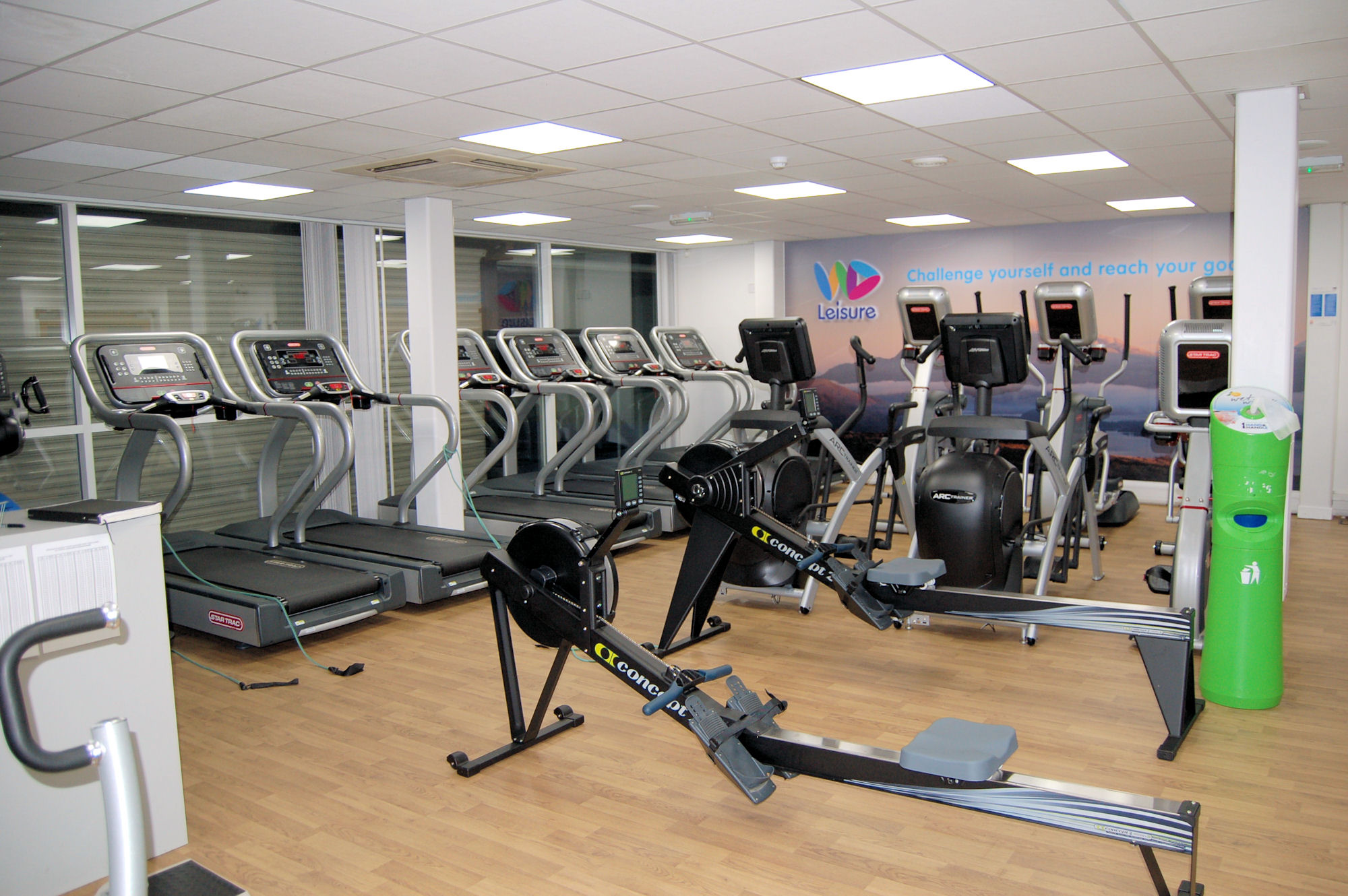 image of Fitness equipment - rowing machines and treadmills