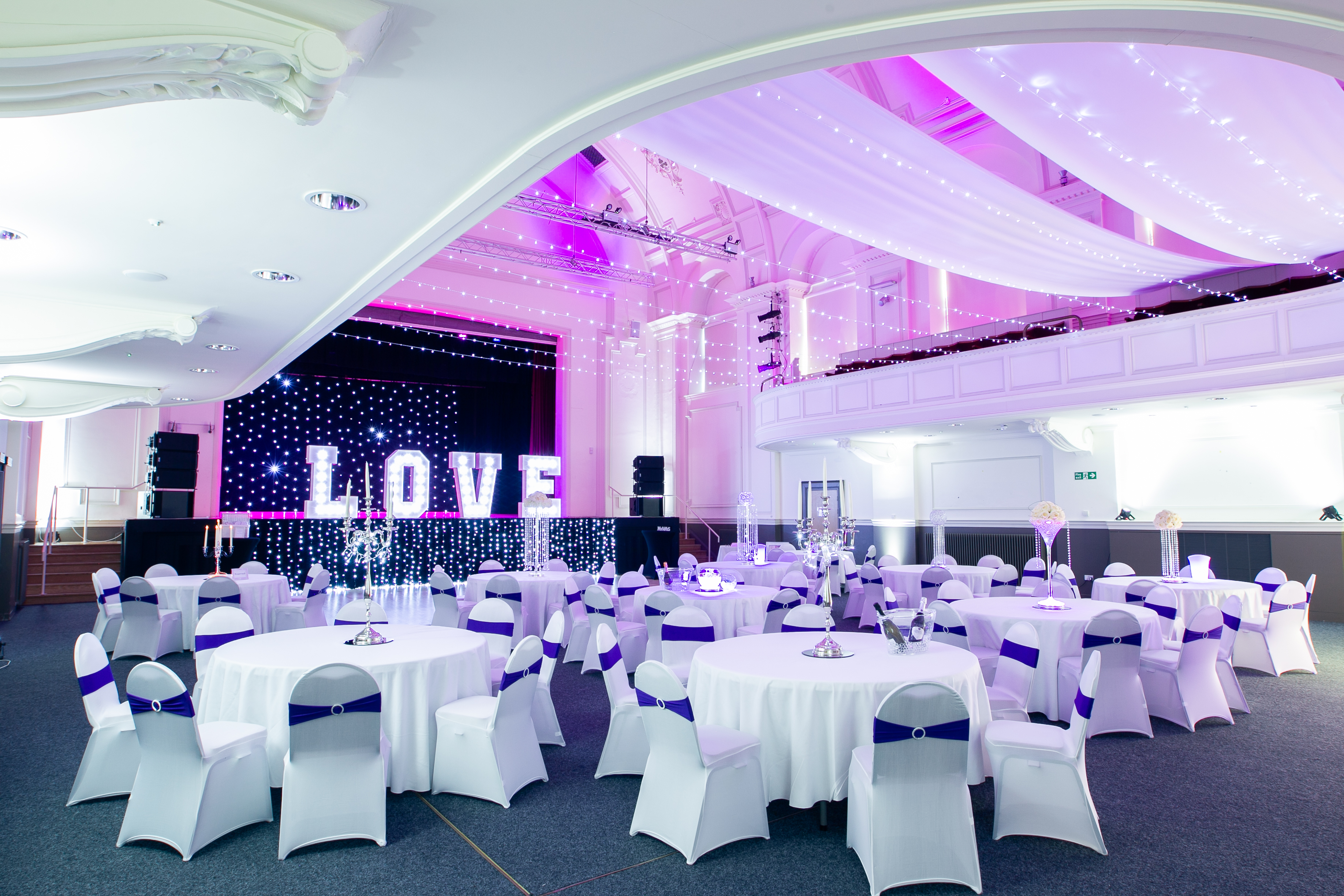 image of Grand Hall - with LOVE on the stage
