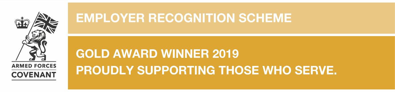 Gold Award Winner 2019 - Proudly supporting those who serve